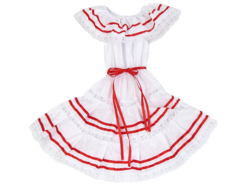 peruvian red ribbons dresses