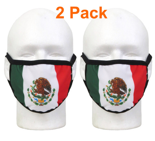 2 pack mexican flag mask