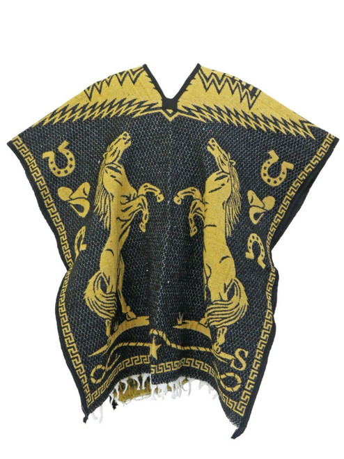 mexican poncho horses black