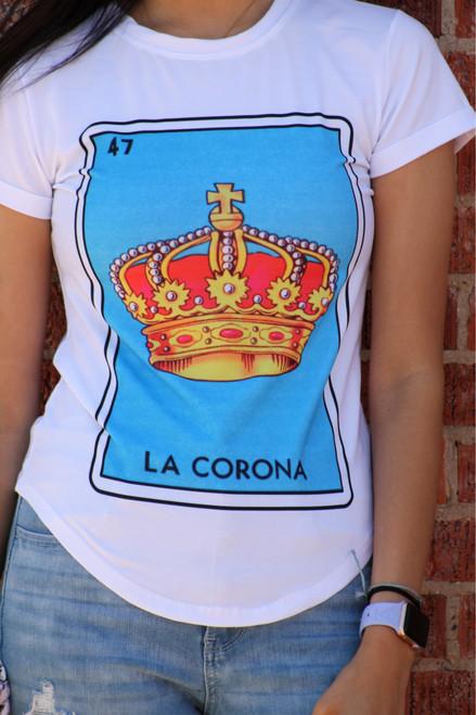 La Corona Loteria Tshirt WHITE FITTED
