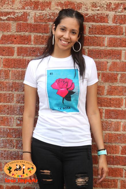 loteria la rosa t shirt