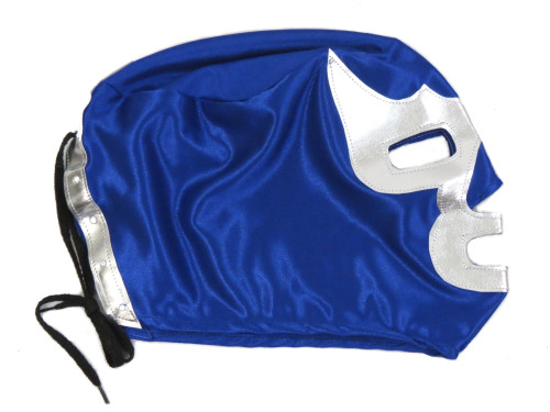 kids blue demon mask