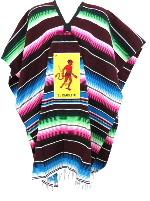 Mexican Loteria Cards Serape Poncho Unisex