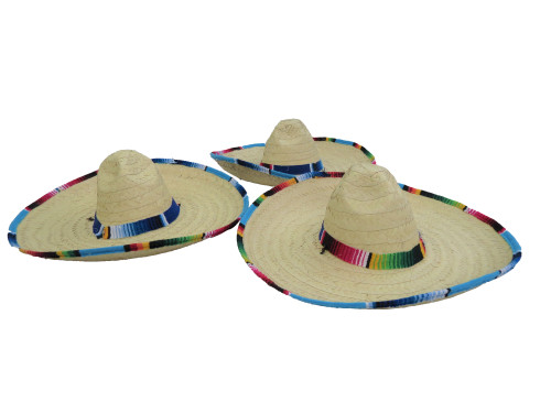 Mexican hat with serape adult