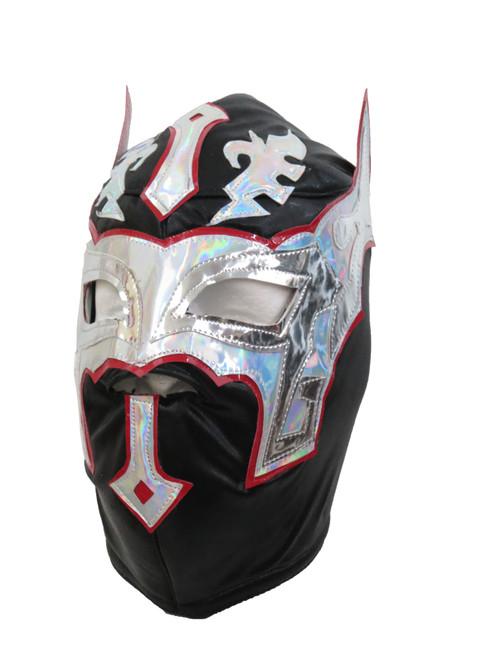 SIN CARA Adult Lucha Libre Wrestling Mask (pro-fit) Costume Wear - Black