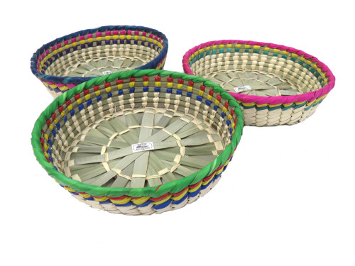 3 pack straw basket