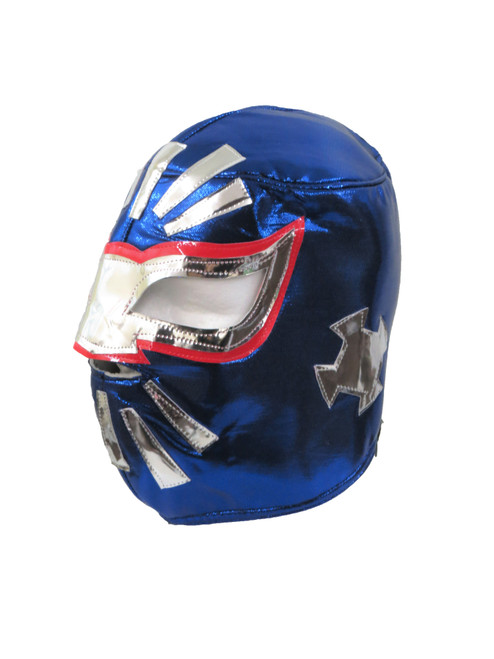 Mistico Sin Cara Adult Lucha Libre Wrestling Mask (Pro-fit) Costume Wear -Blue
