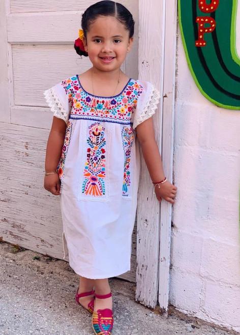 off white girls lace dress