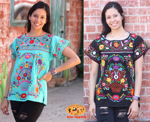 mexican blouse full embroidery