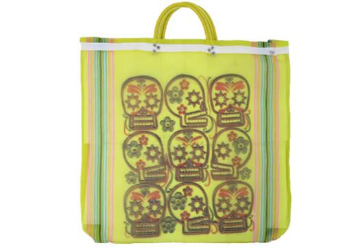 mexican mercado mesh bag yellow