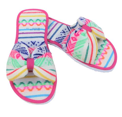 White Cambaya Slippers