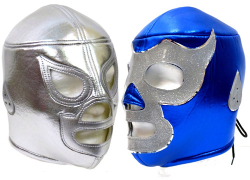 Santo and Blue Demon Adult Lucha Lubre Mask Party Pack