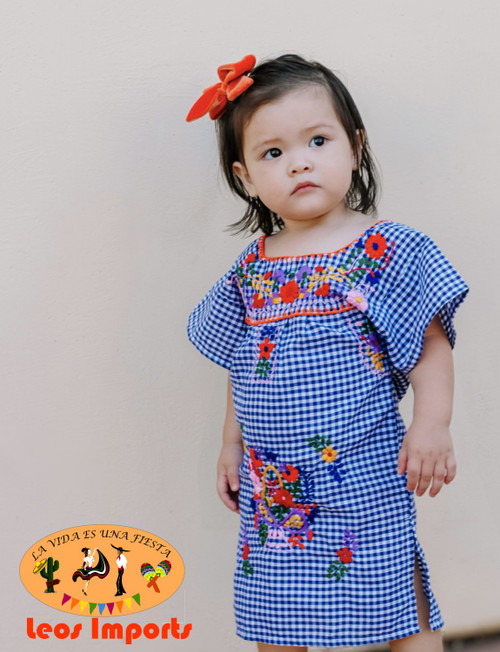 Navy Multicolored Embroidery