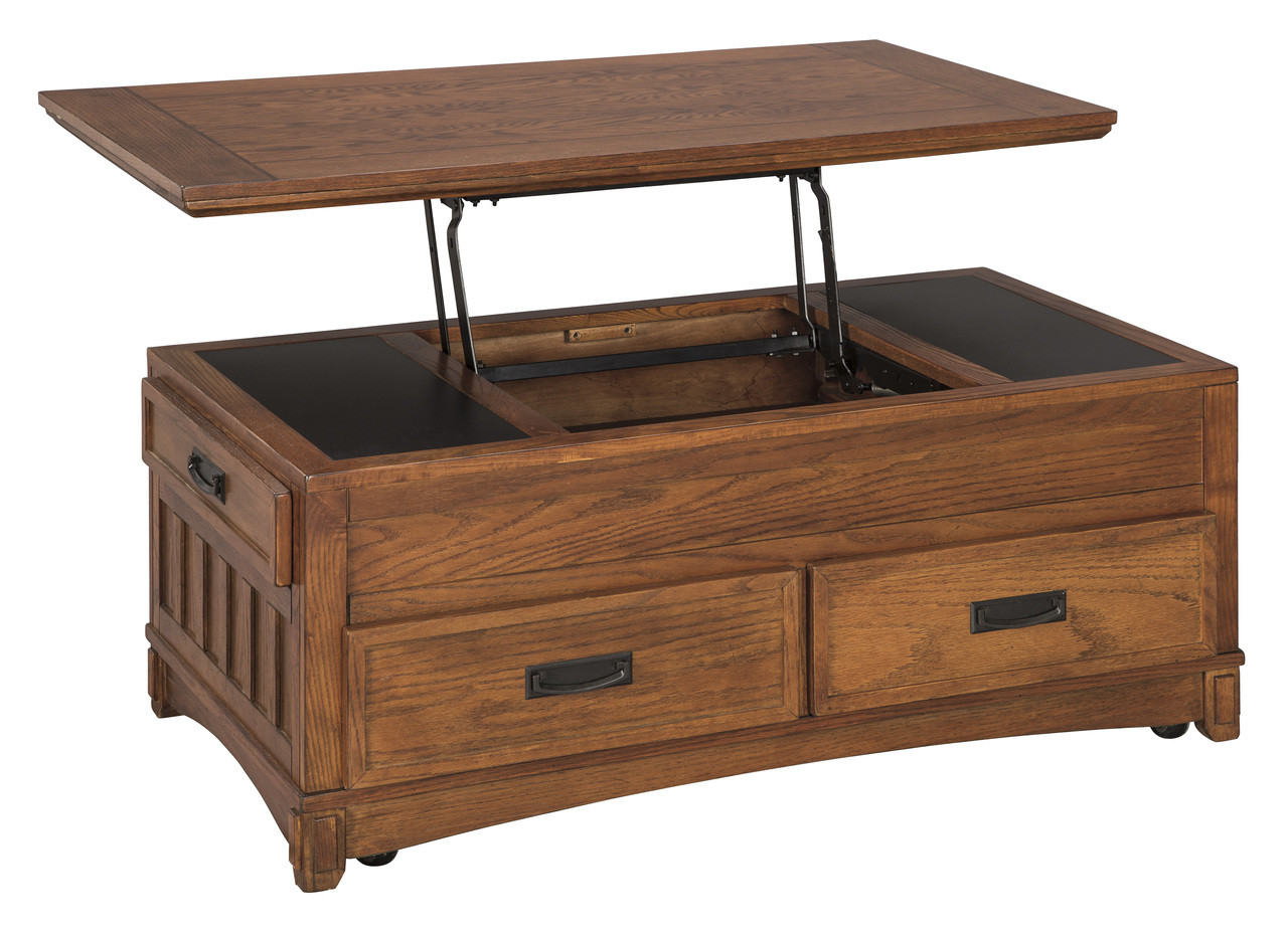 The Ashley Cross Island Lift Top Cocktail Table Sold At Crameru0027s Furniture  Serving Ellensburg WA, Omak WA And Surrounding Areas.