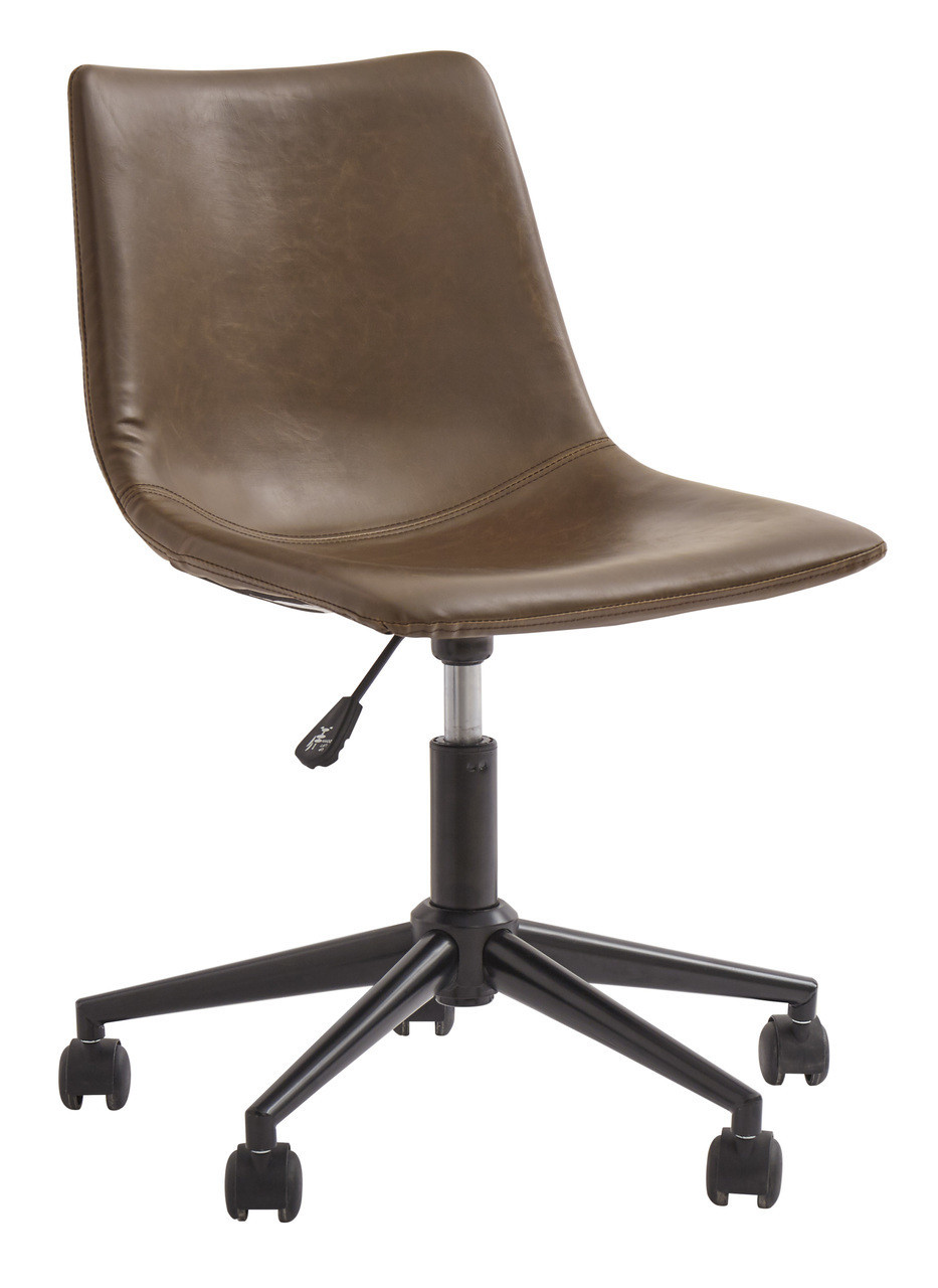 Amazing Home Office Brown Swivel Desk Chair Pdpeps Interior Chair Design Pdpepsorg