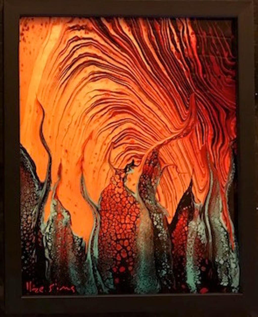 Madame Pele S Cathedral I Ii Metal Art Prints Volcano Lava