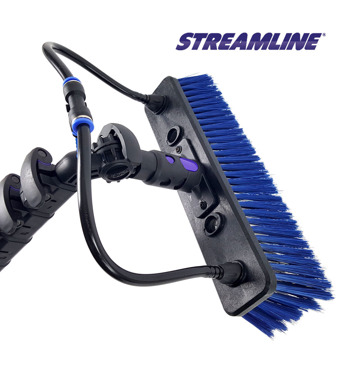 STREAMLINE® OVA8 100% Carbon Waterfed Pole w/tube and Brush