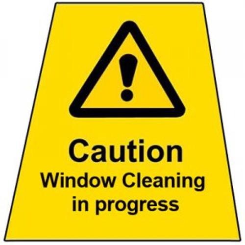 MINICONE Label WINDOW CLEANING IN PROGRESS