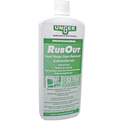 window cleaning  soap, unger rubout, hard stainer remover