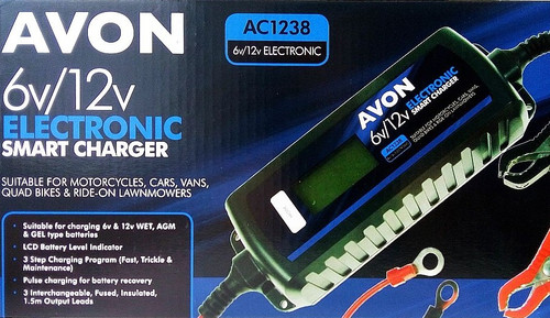Avon 12v Smart Automatic Battery Charger, window cleaning battery charger, Advanced battery charger