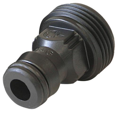 Plug 1/2in - Nylon 3/4in Male threaded (GF)