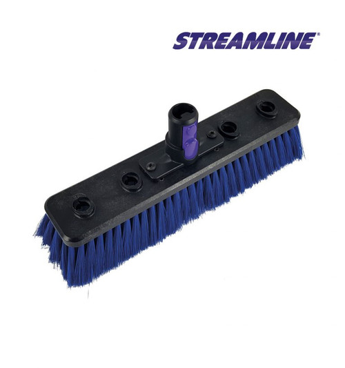 Streamline double trim waterfed pole brush