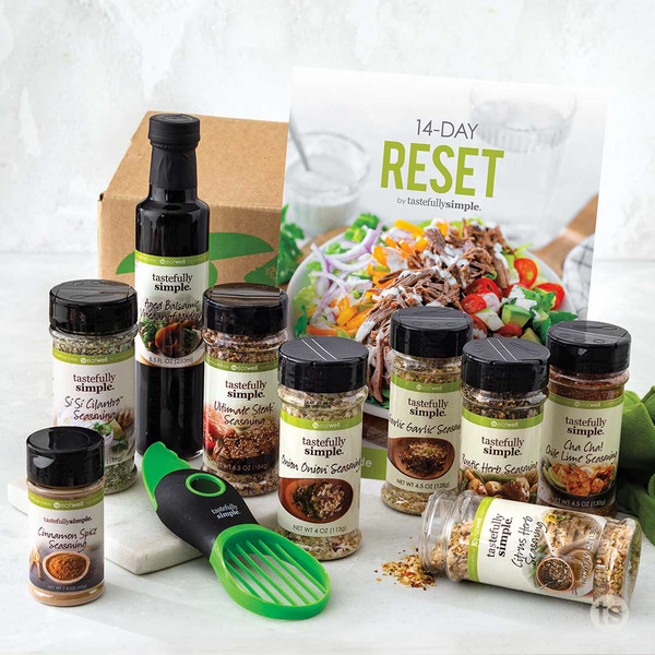 14-Day Reset Kit Products Displayed