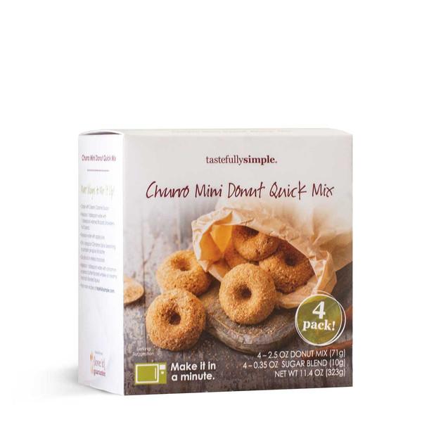 Churro Mini Donut Mix Box Displayed
