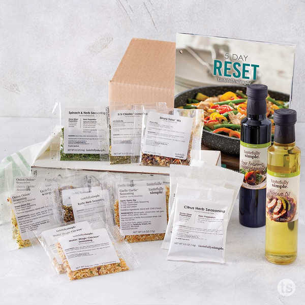 5 Day Reset Products Displayed