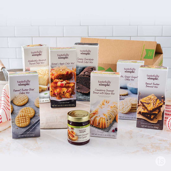 Holiday Baking Kit Products Displayed
