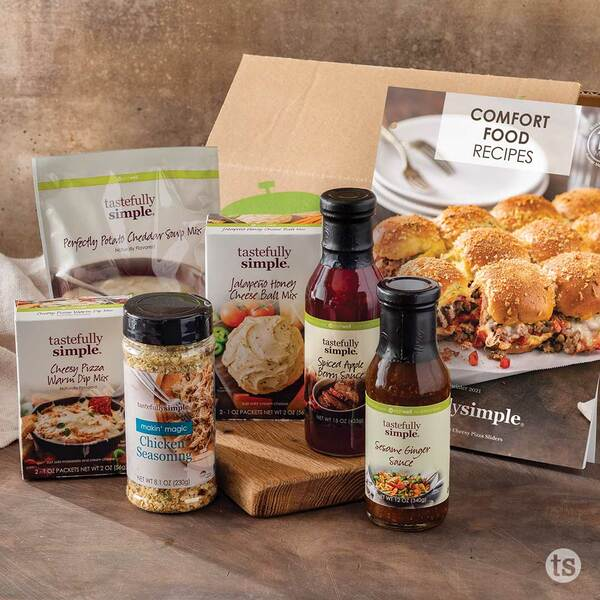 Comfort Food 10-Meal Kit Products Displayed