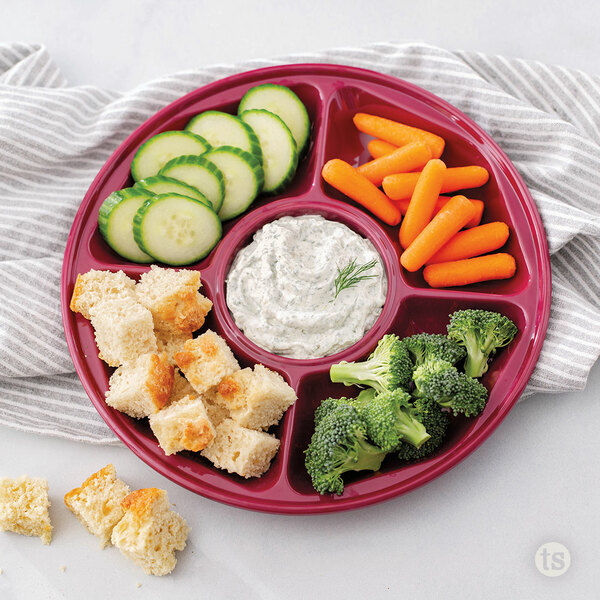 Melamine Serving Tray with Food Displayed