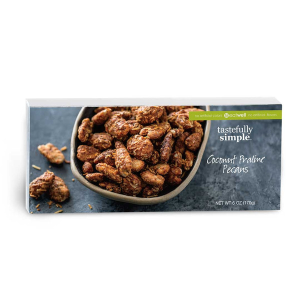 Coconut Praline Pecans Package