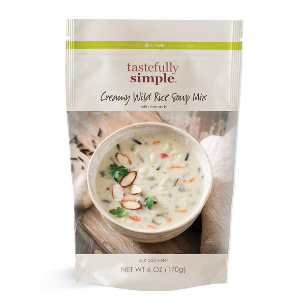 Creamy Wild Rice Soup Mix Displayed