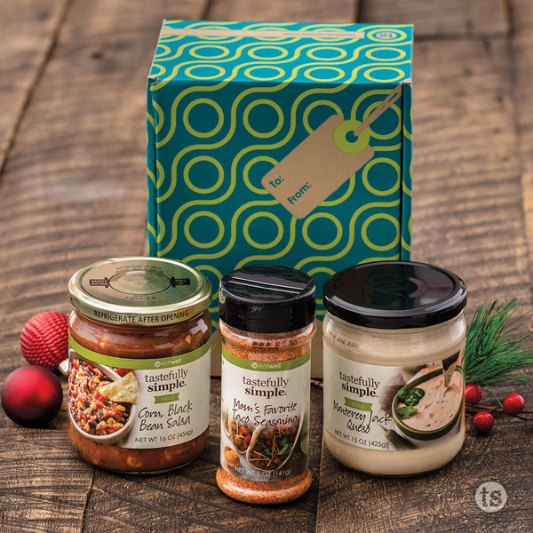 Three south-of-the-border Fiesta products in a festive box