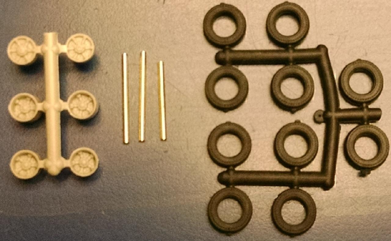 6-Spoke Wheels, Tires & Axles