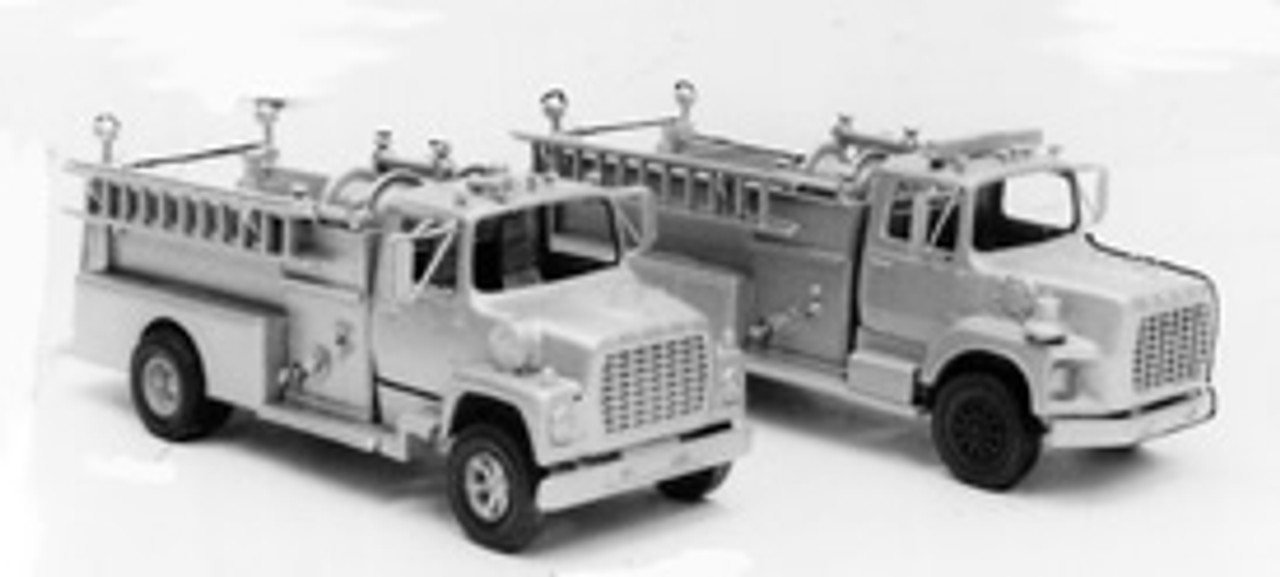 1969 Ford LTS Fire Truck with Pierce Pumper Body Kit