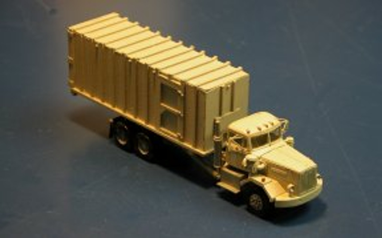 1955 Autocar Constructor Truck with Closed Top Roll-Off Trash Compactor Box Kit