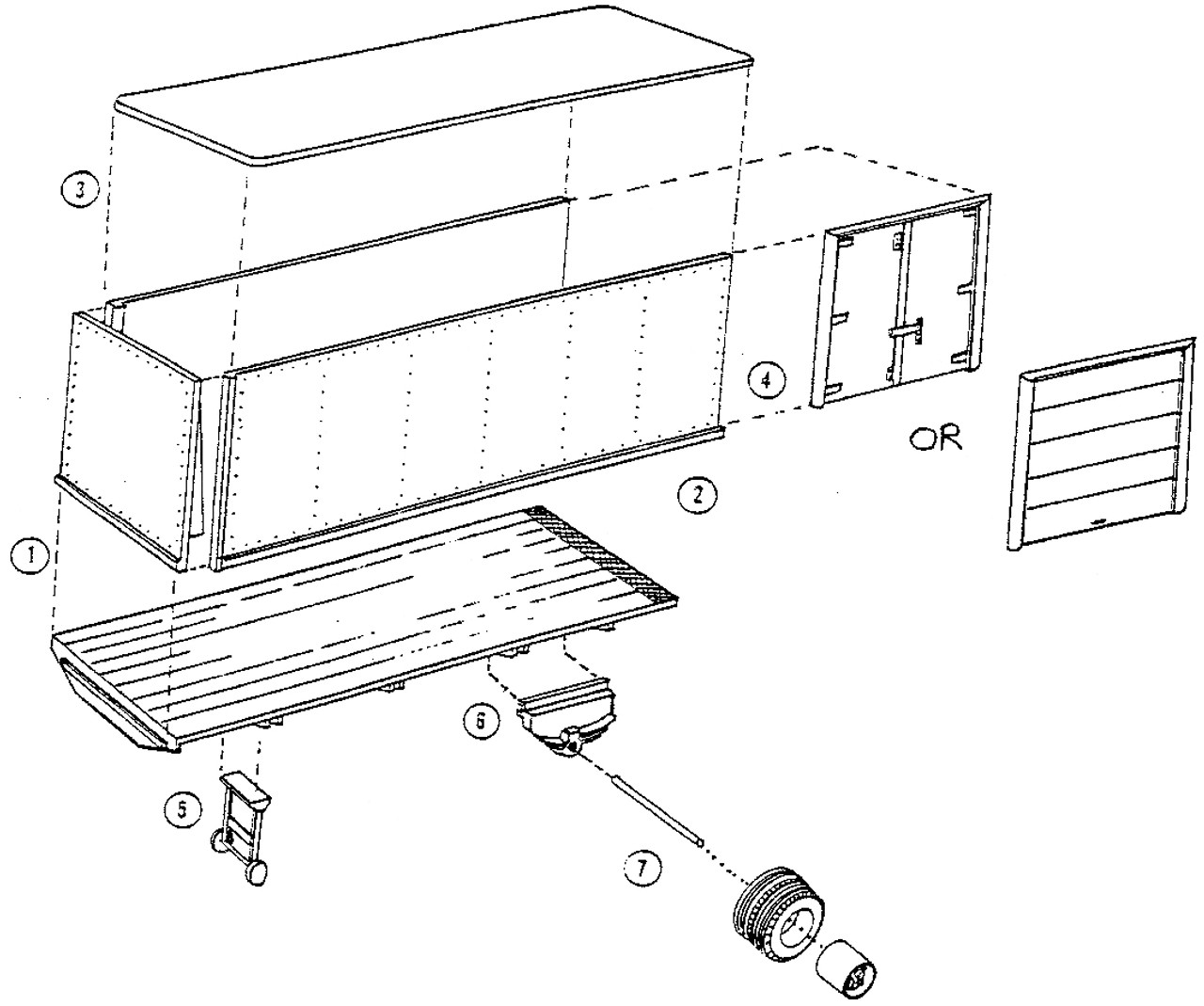 24 ft Riveted Sided Van Trailer Kit