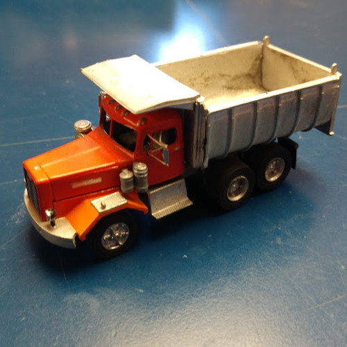 1955 Autocar Constructor Truck with Curved Sided Dump Body Kit