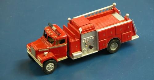 1975 Diamond Reo Fire Truck with Pierce Suburban Pumper Body Kit