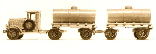 1932 Mack BM Tractor Truck with Tandem Tank Trailers Kit