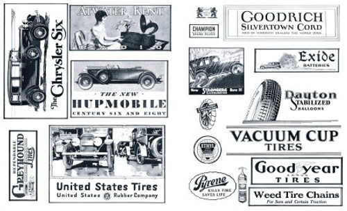 50+ 1930's Black & White Automobile & Related Posters