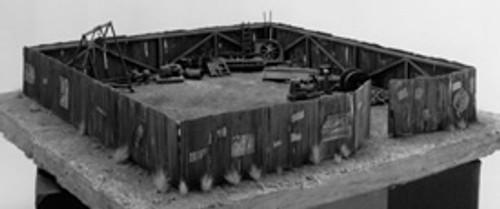 Weathered Corrugated Iron Fence with Gates Kit,