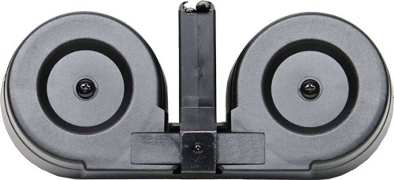 Iver Johnson Magazine Ar15  223 100Rd Drum Blk/Clear Poly