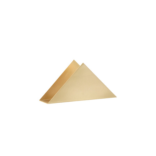 ferm living paper napkin brass triangle stands