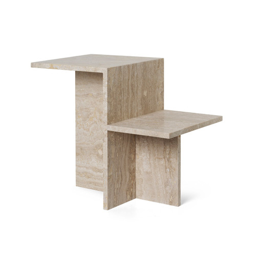 travertine side tables distinct ferm