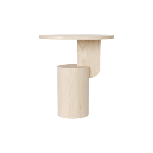 side table that looks like a sculpture insert natural ferm
