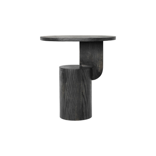 sculpture-like sidetables black insert ferm