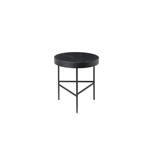 marquina marble side tables black ferm